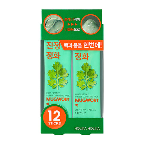 Holika Holika Pure Essence Mugwort Bubble Cleansing Pack