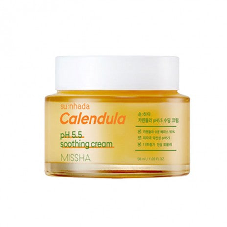 Missha Su:nhada Calendula pH 5.5 Soothing Cream