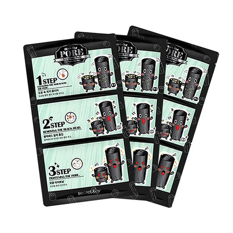 Secret Key Black Out Pore 3-Step Nose Pack (5 sets)