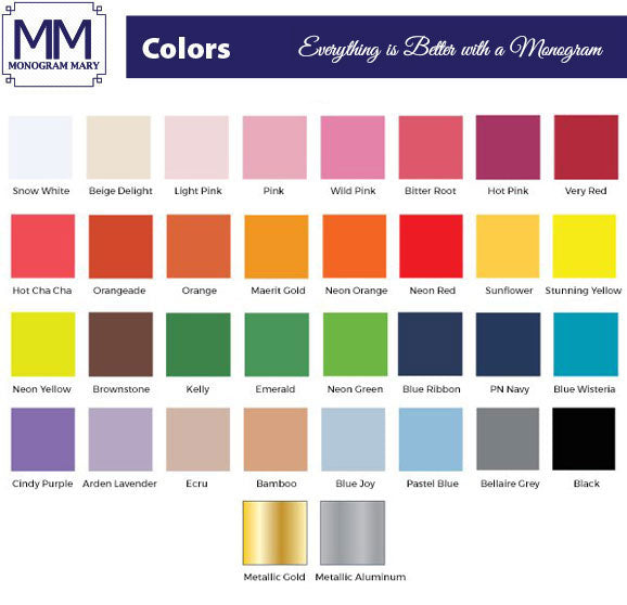 Monogram Mary Color Options