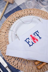 The Monogram Mary Lobster kit turns napkins into lobster bibs