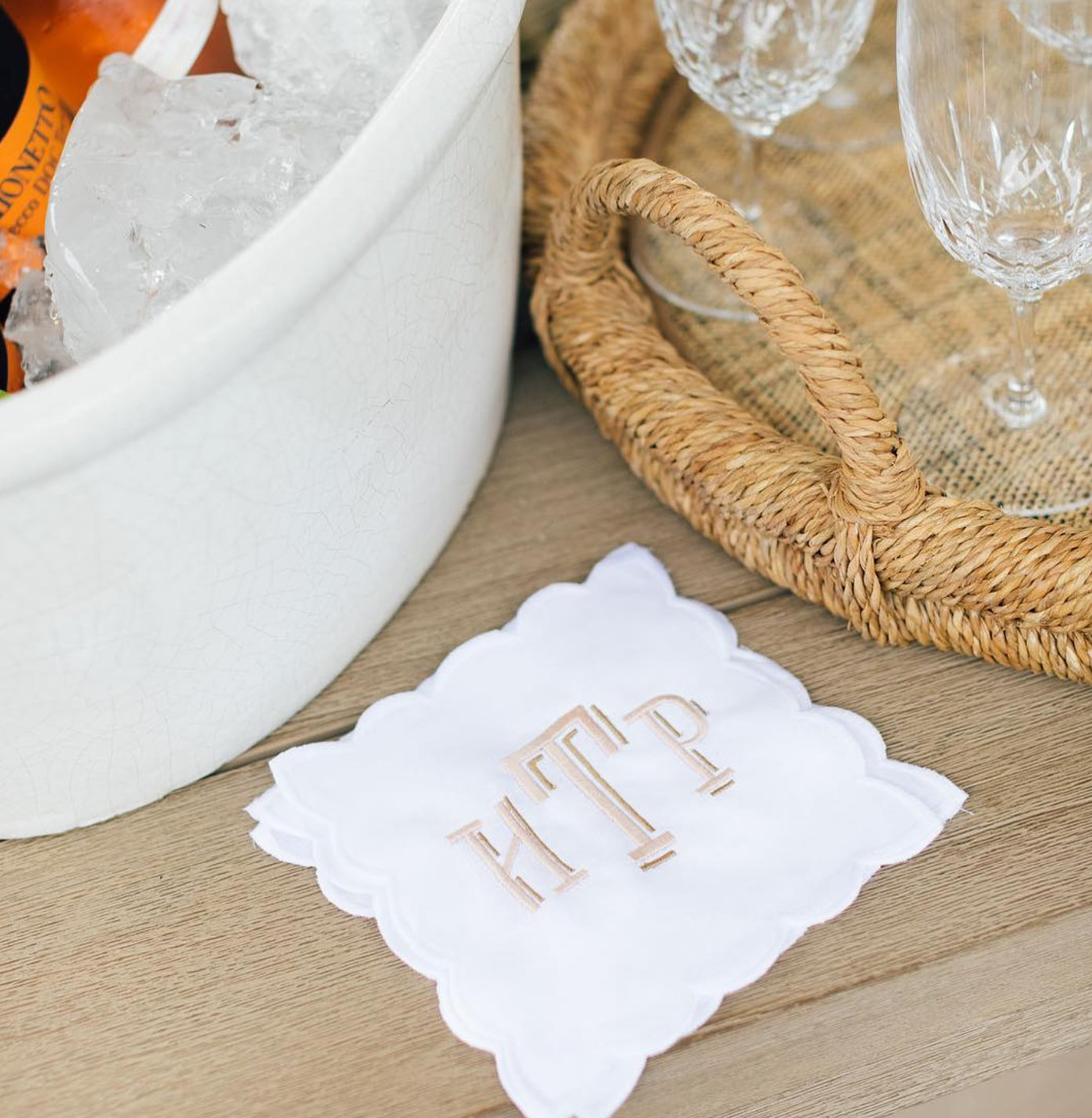 Scalloped Cocktail Napkins