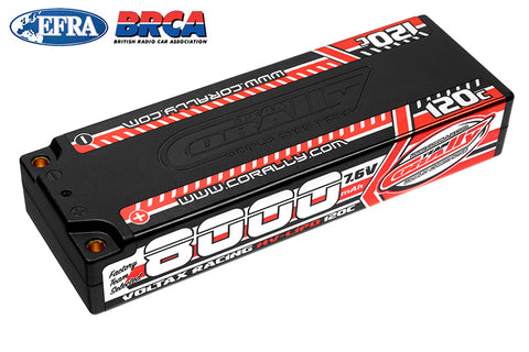 Team Corally - Voltax 120C LiPo HV Battery - 8000 mAh - 7.6V - Stick 2S -  4mm Bullit