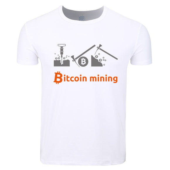 Asian Size Men And Women Print Bitcoin Mining Fashion T-shirt Summer Casual O-Neck Short Sleeve Funny Tshirt HCP4365