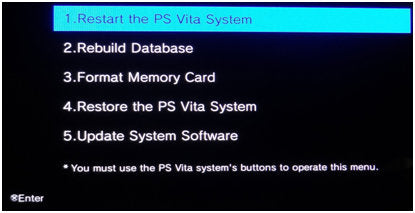 How To Hard Reset or Restore A PS Vita