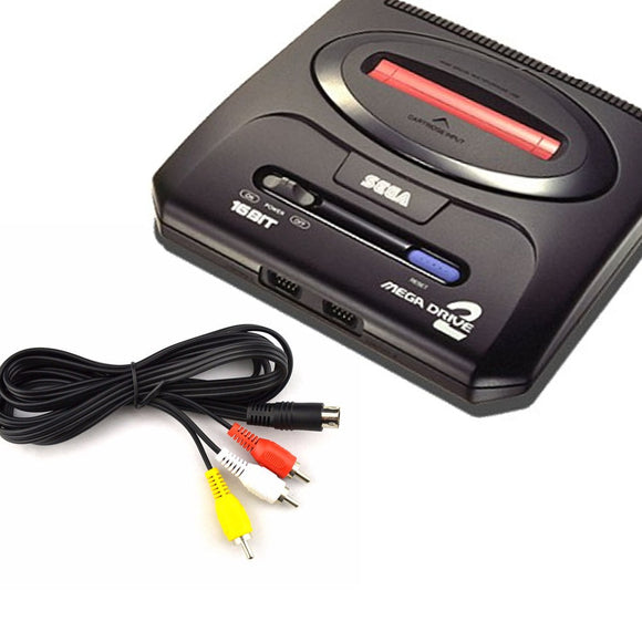 Sega Mega Drive II (2) Composite RCA AV Cable - Gaming Outlet