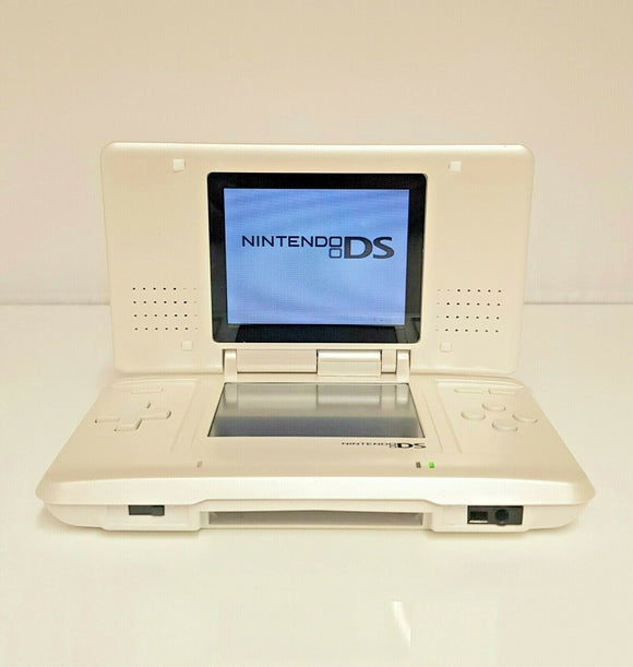 Custom White Shell Nintendo DS Handheld Video Game Console - USED