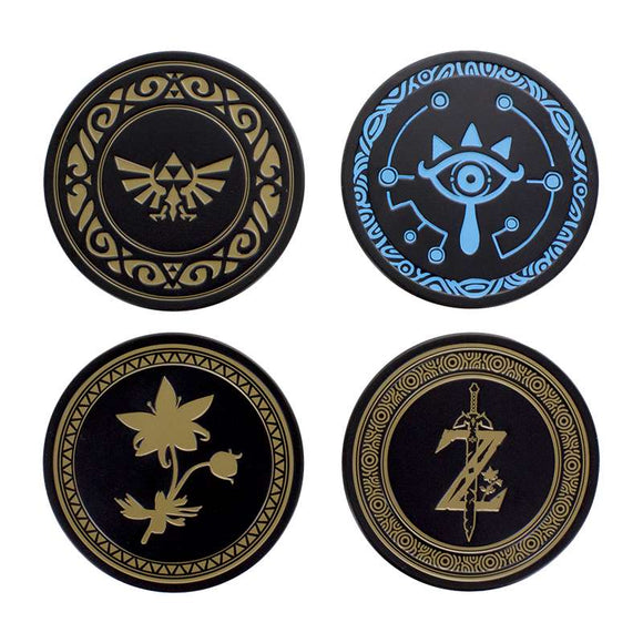 The Legend of Zelda Breath of the Wild Metal Coasters Set - Gaming Outlet