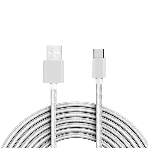 Type-C USB Fast Charge Charging Cable for PS5 Dualsense Controller - 3M White