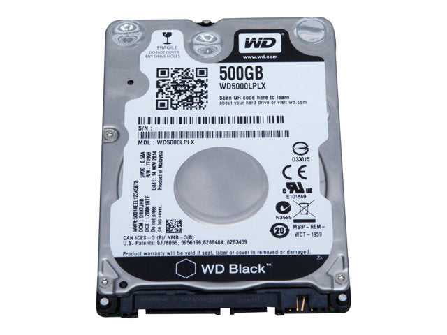 WD Black Performance Hard Drive WD5000LPLX - Disco duro - 500 GB