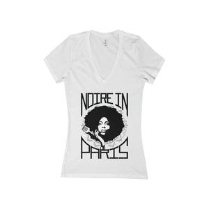 T-Shirt col V - Noire In Paris