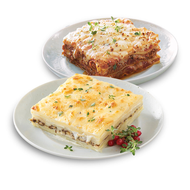 Ready-to-Eat Lasagna / Potato Gratin (Frozen) - Bundle of 2