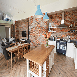 RECLAIMED BRICK SLIPS - KITCHEN & SPLASH BACKS image