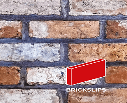 Georgian White Blend Brick Slips, Image