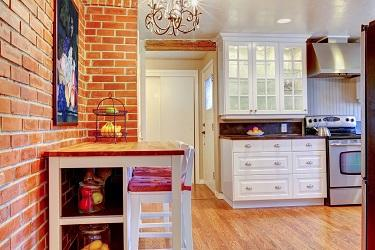 bricked kitchen