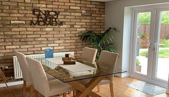 kitchen decor using brick slips