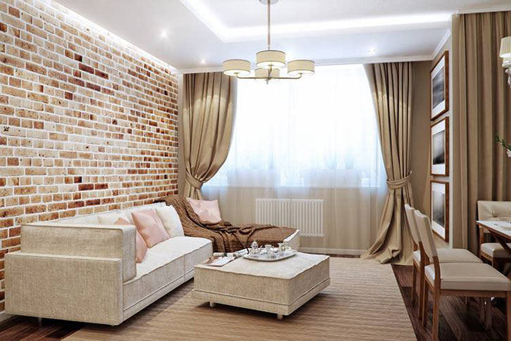 Front rooms decorated with brick slips