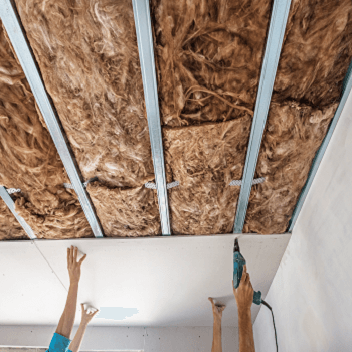 brick slip insulation work