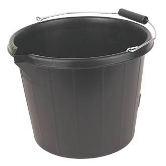 BUILDERS BUCKET BLACK 3 GALLON (14LTR), IMAGE
