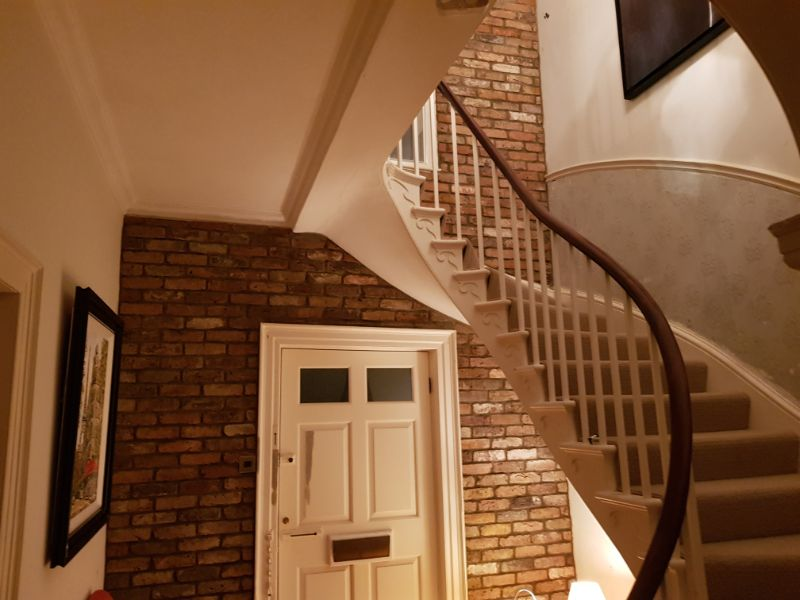Stair and Hallway with Brick Slips