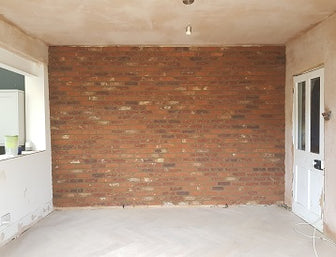 Brick Slip Feature wall After Install