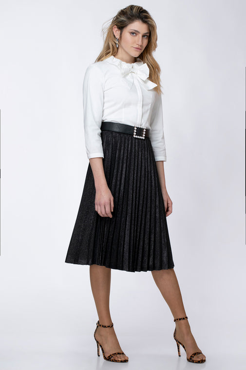 LUREX PLISSE SKIRT