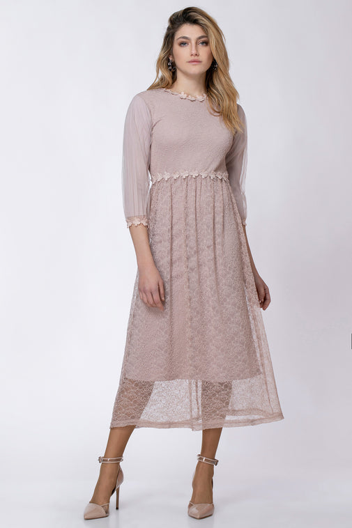 FLOWERS LACE DRESS