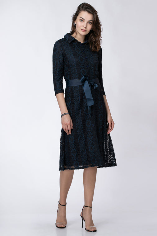 BUTTON LACE DRESS