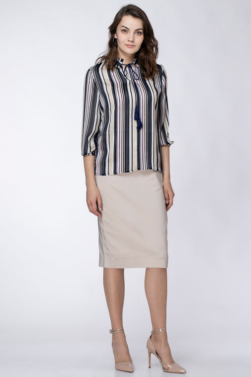 STRIPED LUREX SHIRT