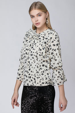 CHIFFON SHIRT WITH STRING