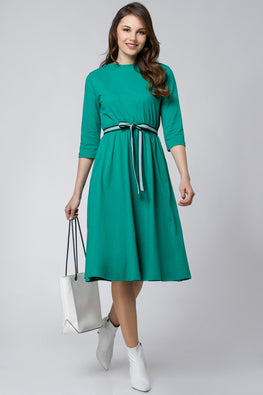 LINE DRESS WITH RIBBON