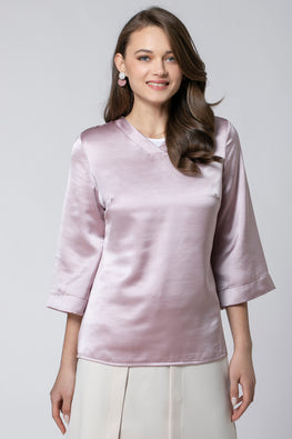 WIDE SLEEVED SATIN SHIRT