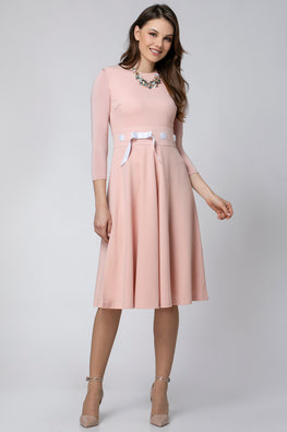 DRESS WITH TIE RIBBON