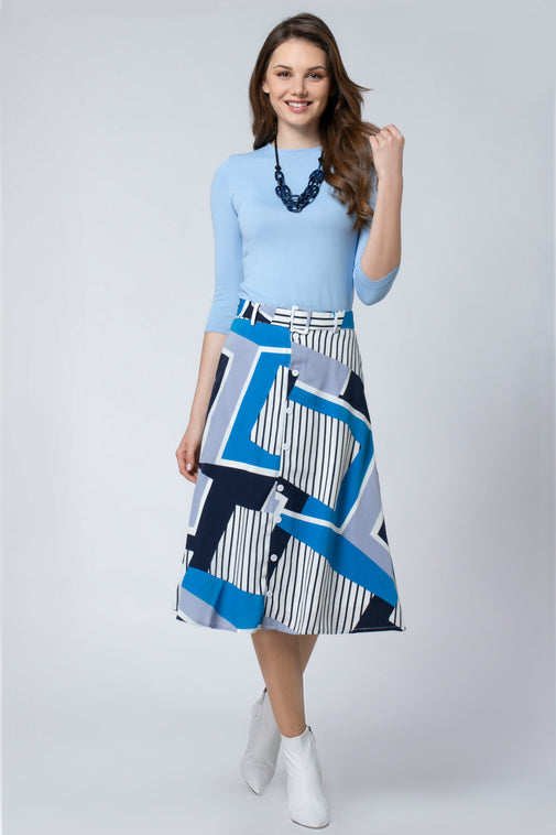 COTTON SKIRT WITH BELT