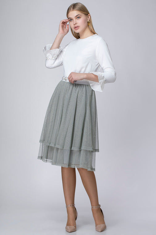 LUREX NET SKIRT
