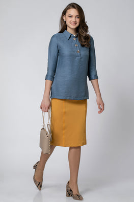 TUNIC WITH COLOR AND BUTTONS