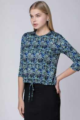 ASYMMETRIC PRINTED SHIRT