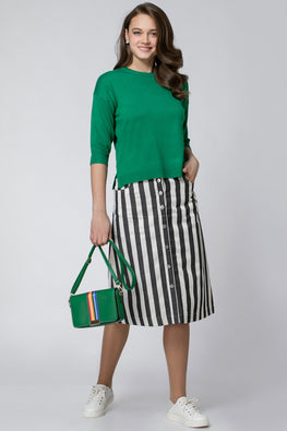 STRIPED DARYL SKIRT