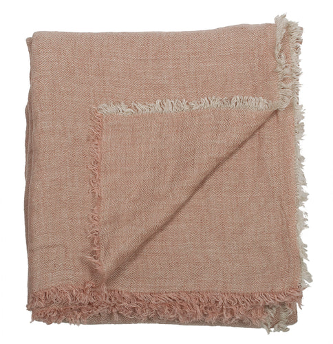Washed Linen throw, salmon