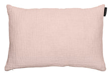 Cushion in waffled linen, vintage look and feel. Old pink