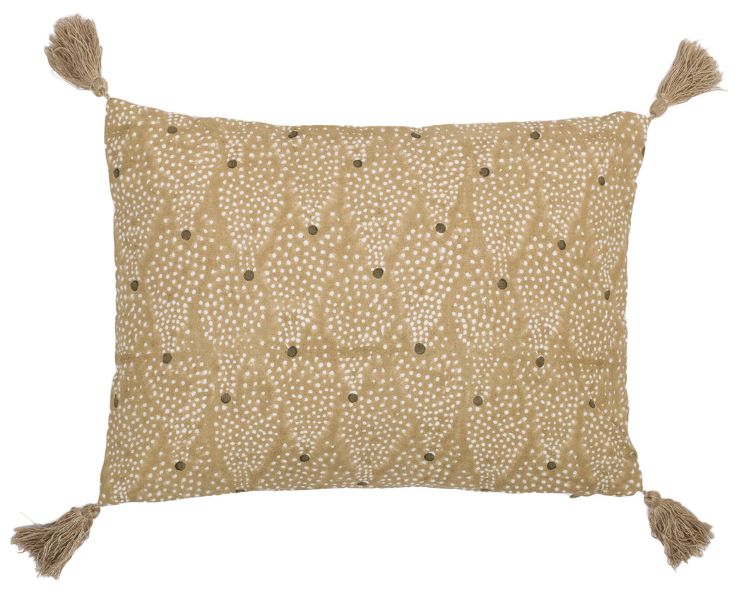 Star cushion, ochre