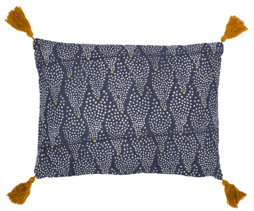 Star cushion, midnight blue