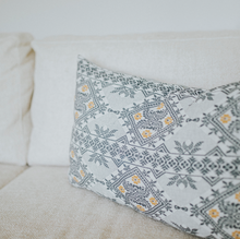 Ethnic inspired cushion, flower print