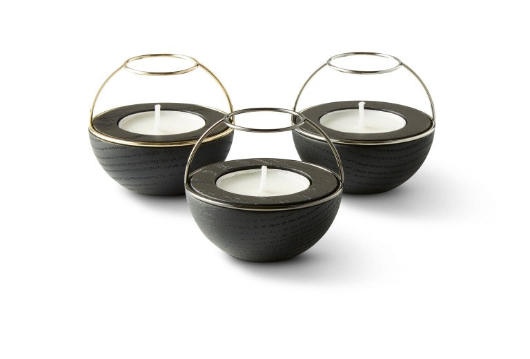 FLAMING RINGS Tea Light Holder