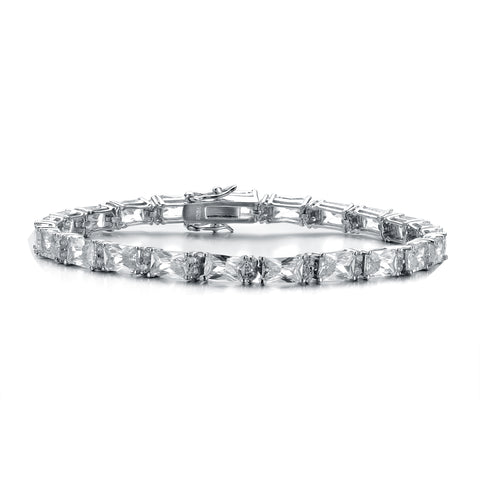 Sterling Silver Cubic Zirconia Solitaire Bracelet