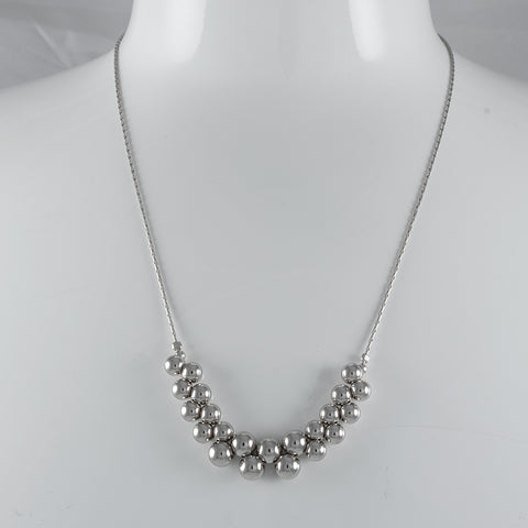 Sterling Silver Multi Polished Necklace