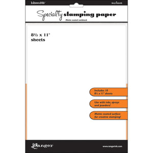 Inkssentials Specialty Stamping Paper 10/pk - 8.5x11""