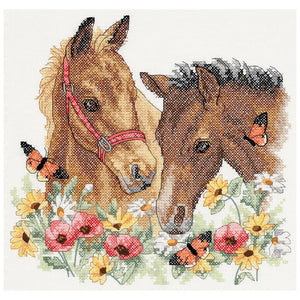 Dimensions Stamped Cross Stitch Kit - Horse Friends | Dimension