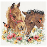 Dimensions Stamped Cross Stitch Kit - Horse Friends