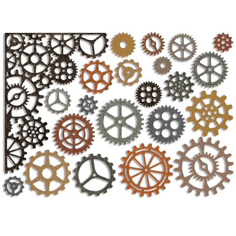 Sizzix Thinlits Dies By Tim Holtz 22/Pkg - Gearhead